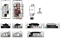 Family house type design drawing