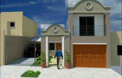 Family housing expansion 3 D plan detail dwg file