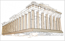 Famous architect design of Acropolis
