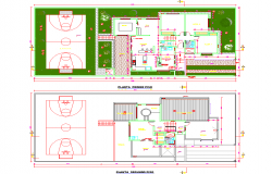 Farm House Layout plan dwg file