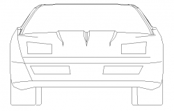 Fashion car front view cad block design dwg file