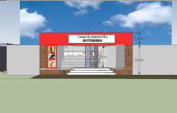 Fast food center 3d file