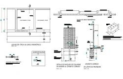 Fence section and construction details dwg file