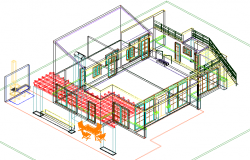 Filed house plan detail dwg file
