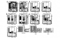 Financial Building dwg file