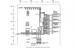 Fire Piping System CAD Drawing
