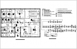 Fire alarm system electrical installation with fire alarm block diagram for office dwg file