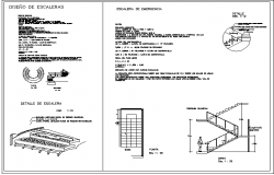 Fire escape emergency staircase construction details dwg file