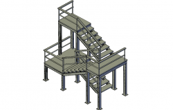 Fire escape staircase 3d file