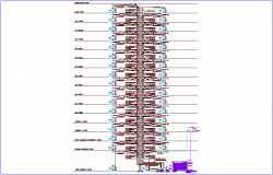 Section static tank detail dwg file