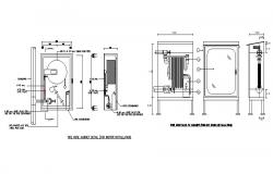 Fire hose cabinet indoor electrical installation details dwg file