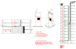 Fire installation drawing and detail in autocad dwg files