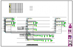 Fire linkage control system diagram of residential building design drawing