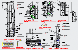 Fire place details design drawing