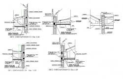 Fire wall constructive cad drawing details dwg file