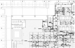 Firefighting layout of corporate building in detail