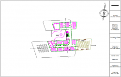 First  floor plan of medical center dwg file