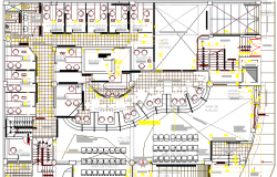 First Floor Structure Details of Corporate Building Design dwg file