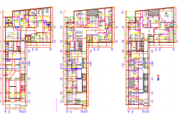 First Floor and Second Floor Plan of North Clinic Design dwg file
