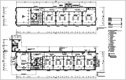 First and second floor electrical plan of corporate office dwg file