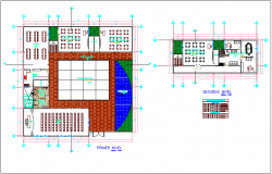 First and second floor plan for city hall dwg file