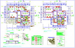 First and second floor plan with laboratory detail for biotechnology university dwg file