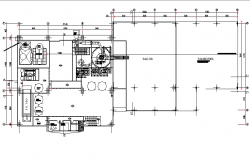 First floor Factory for the making of malt extracts detail dwg file