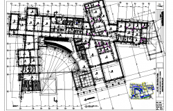 First floor School commercial plan detail dwg file