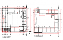 First floor and second floor Layout commercial plan detail dwg file