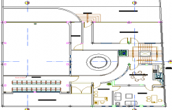 First floor architecture layout plan of municipal office dwg file