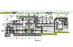 First floor distribution plan details of peru international airport dwg file
