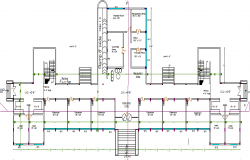 First floor layout plan of primary school dwg file
