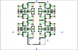 First floor plan design view dwg file
