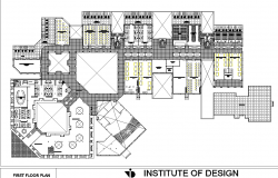 First floor plan detail dwg file