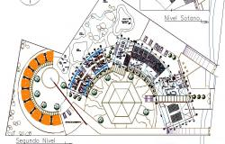 First floor plan details of luxuries hotel cad drawing details dwg file