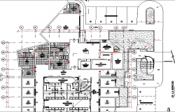 First floor plan layout details of industrial plant dwg file
