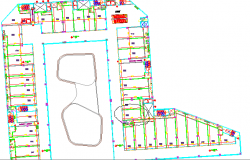 First floor plan of corporate building dwg file