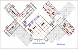 First floor plan of general hospital dwg file