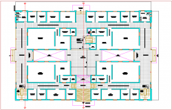 First floor plan of judicial court dwg file
