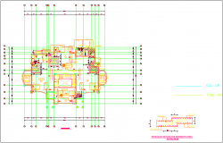First floor plan with slab construction dwg file
