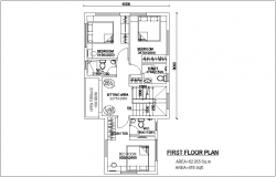 First floor plan with view of bungalows with architecture view dwg file