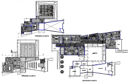 First floor to terrace floor Administration plan detail dwg file