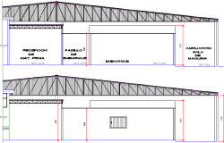 Fish Processing Plant Design and Elevation dwg file