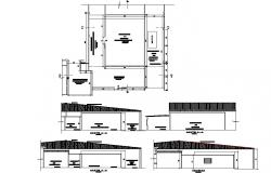 Fish processing plant expansion plans detail dwg file