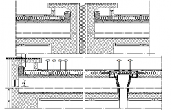 Flat roof construction details dwg file