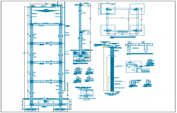 Flood zone college construction details dwg file