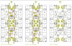 Floor Plan Design of Residence Apartment 2d AutoCAD Drawing Download