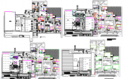 Floor Plan Details of College Architecture Project dwg file