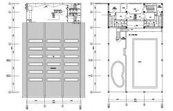 Floor Plan Of Modern Stadium Design AutoCAD File Free