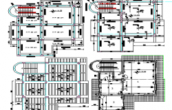 Floor Plan of Apartment Building and Office dwg file